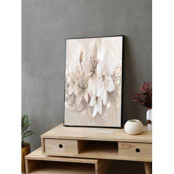 Orchid Flower Print Framed Canvas Prints - multicolor 20*28 INCH