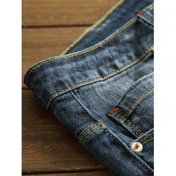 Retro Bottom Zipper Pencil Jeans - DENIM DARK BLUE 32