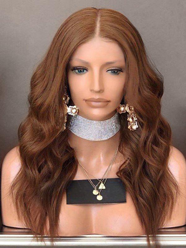 Middle Part Long Wavy Party Capless Synthetic Wig - LIGHT BROWN