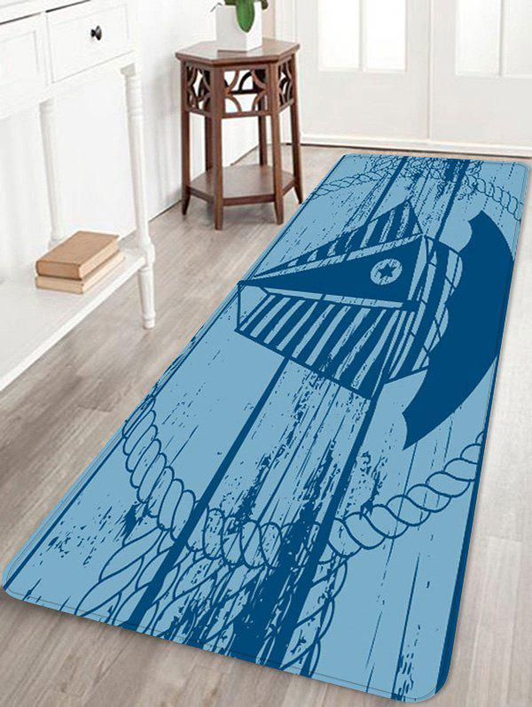 Star Sailboat Print Water Absorption Floor Mat - multicolor W24 INCH * L71 INCH