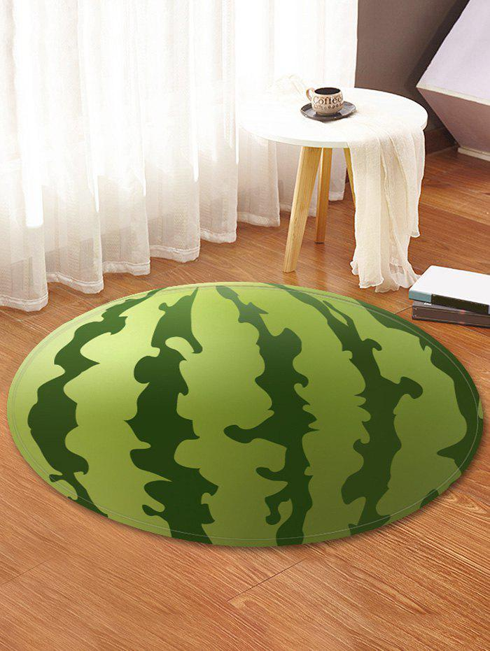 Watermelon Print Absorption Round Floor Mat - SHAMROCK GREEN 60 CM (ROUND)