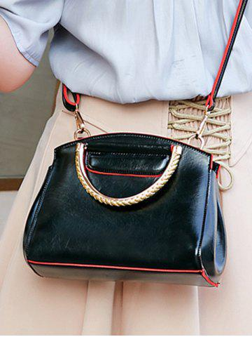 Metallic Handle Fashion Going Out Handbag with Strap