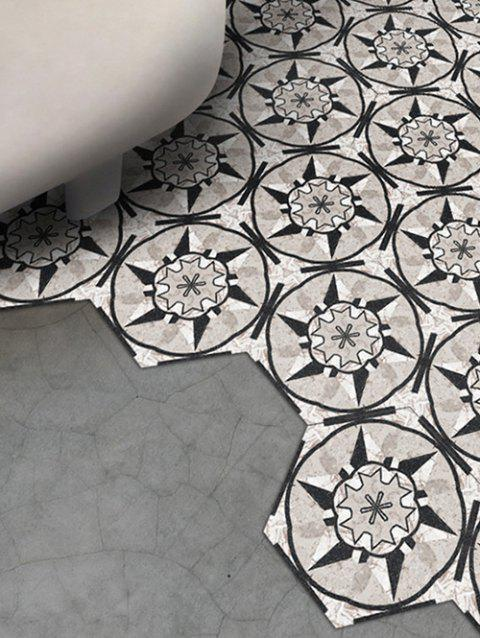 Marble Flower Pattern Bathroom Tile Stickers - multicolor 23*20CM*10PCS