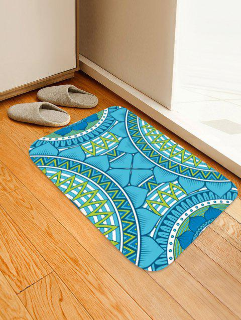 Semi-circle Print Absorption Floor Mat - TIFFANY BLUE W20 INCH * L31.5 INCH