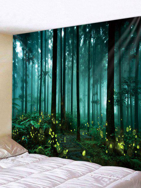 Forest Firefly Print Tapestry Wall Art - multicolor W91 INCH * L71 INCH