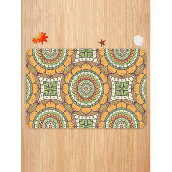 Bohemian Flower Printed Area Rug - multicolor W16 INCH * L24 INCH