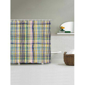 Colorful Lines Print Waterproof Shower Curtain - multicolor W71 INCH * L79 INCH