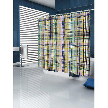 Colorful Lines Print Waterproof Shower Curtain - multicolor W71 INCH * L71 INCH