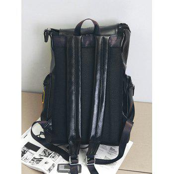 Outdoor All Purpose Buckles Camping Backpack - BLACK