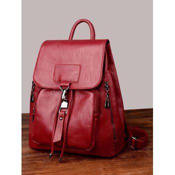 Minimalist Daily Going Out Flap Backpack - RED DIRT