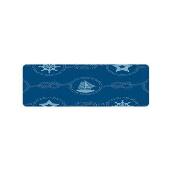 Nautical Theme Pattern Soft Anti-skid Area Rug - BLUE W16 INCH * L47 INCH