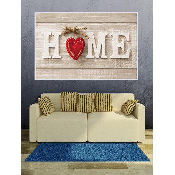 HOME Wood Grain Print Framed Canvas Painting - multicolor 14*20 INCH