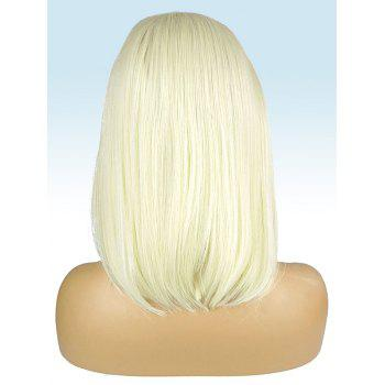 Medium Center Parting Straight Party Synthetic Lace Front Wig - GOLD