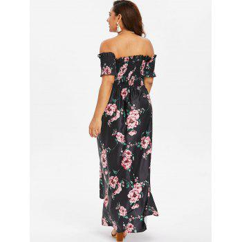 Plus Size Tulip Off Shoulder Dress - BLACK 3X