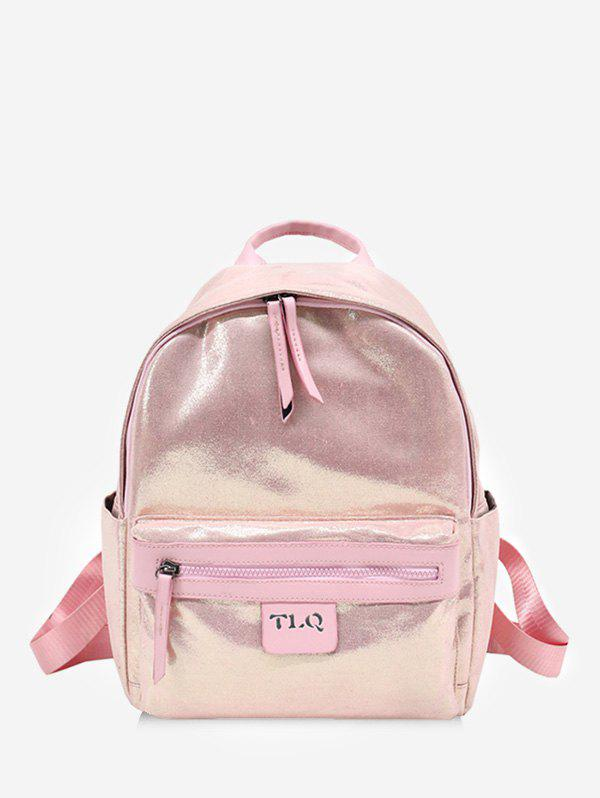 Going Out Travel Holographic Backpack - LIGHT PINK