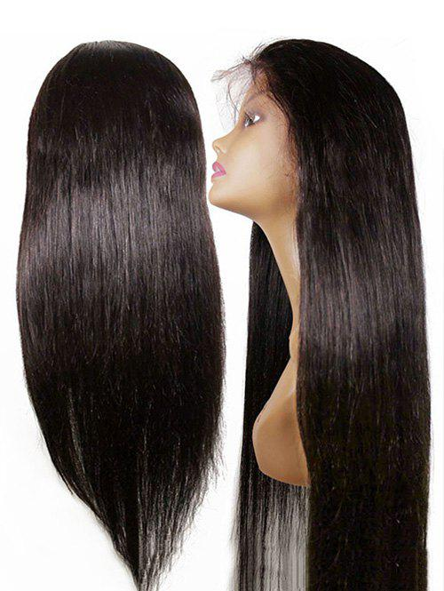 Middle Part Long Straight Party Lace Front Synthetic Wig - DEEP BROWN