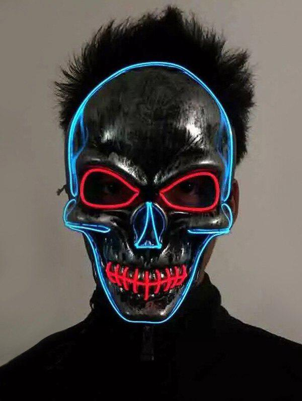Luminous Horrible Skull Full Face Party Mask - multicolor