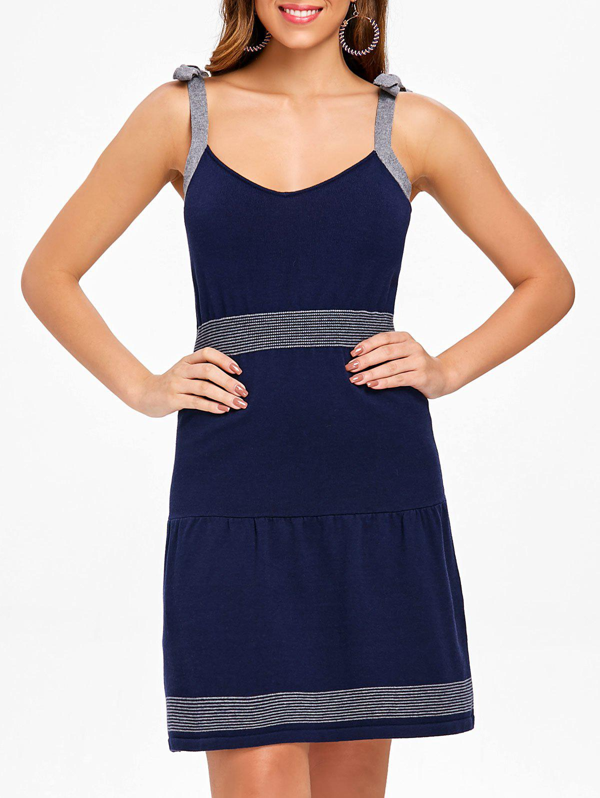 V Neck Sleeveless Jumper Dress