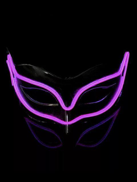 Masque Renard d'Halloween Lumineux Style Cosplay - Pourpre