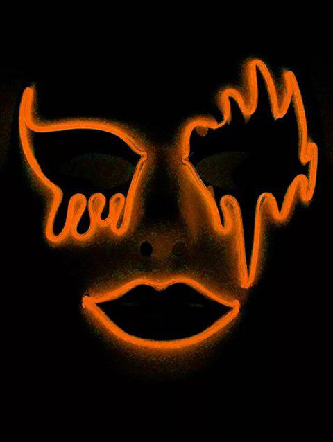 Masque d'Halloween Lumineux Style Cosplay - Orange
