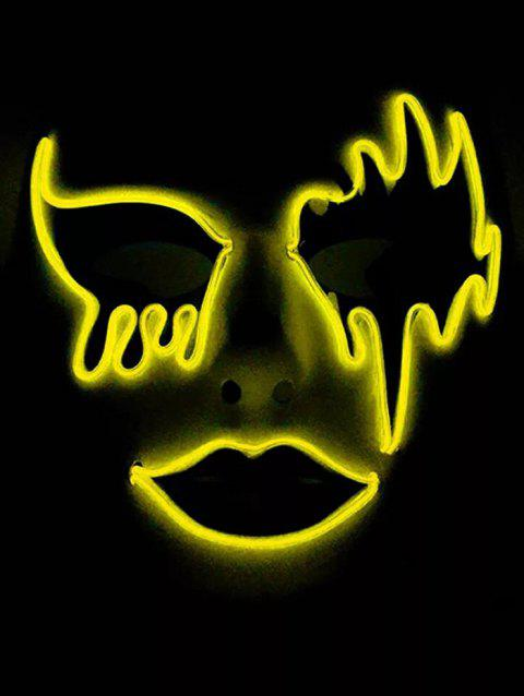 Masque d'Halloween Lumineux Style Cosplay - Jaune