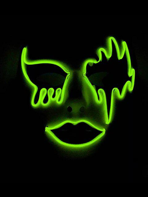 Halloween Cosplay EL Glowing Mask - LIME GREEN