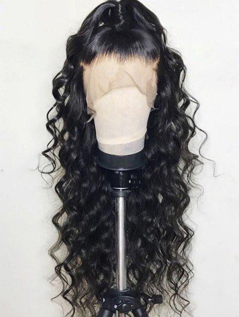 Free Part Long Loose Wave Party Synthetic Lace Front Wig - BLACK