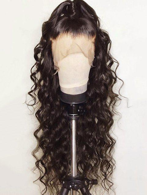 Free Part Long Loose Wave Party Synthetic Lace Front Wig - DEEP BROWN