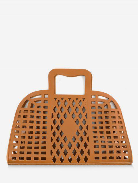 Hollow Out Large Capacity Tote Bag - BROWN