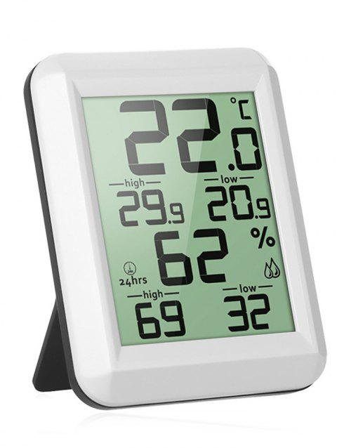 Indoor LCD Digital Display Thermometer Hygrometer - WHITE