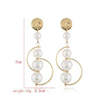 Artificial Pearl Decoration Earrings - GOLD