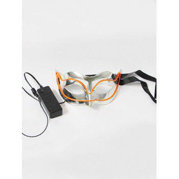Halloween Cosplay EL Glowing Fox Mask - ORANGE