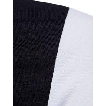 Contrast Top Pocket Patch Polo Shirt - WHITE M