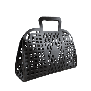 Hollow Out Large Capacity Tote Bag - BLACK
