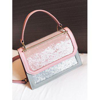 Flap PU Leather Sling Bag - PINK