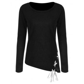 Criss Cross Fitted Top - BLACK XL