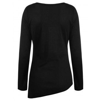 Criss Cross Fitted Top - BLACK L