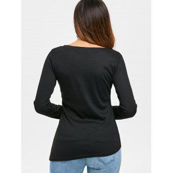 Criss Cross Fitted Top - BLACK S
