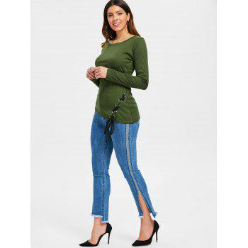 Criss Cross Fitted Top - ARMY GREEN XL