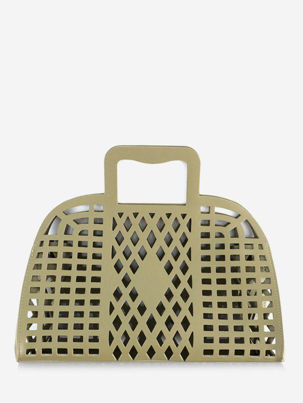 Hollow Out Large Capacity Tote Bag - GREEN