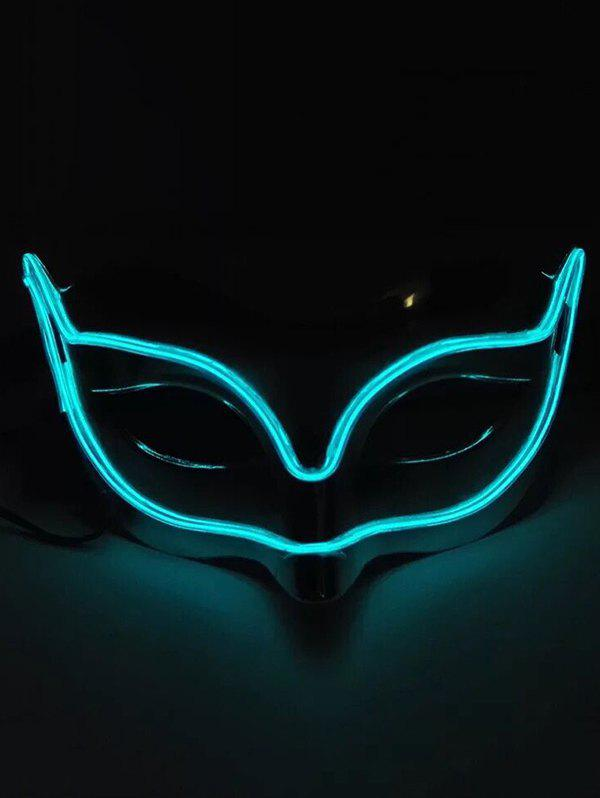 Halloween Cosplay EL Glowing Fox Mask - DEEP SKY BLUE