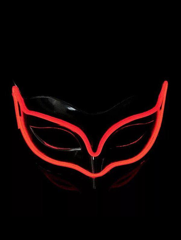 Masque Renard d'Halloween Lumineux Style Cosplay - Rouge