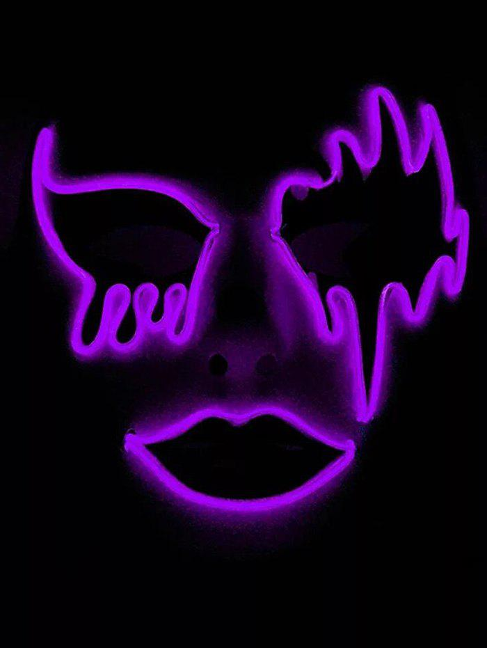 Halloween Cosplay EL Glowing Mask - PURPLE