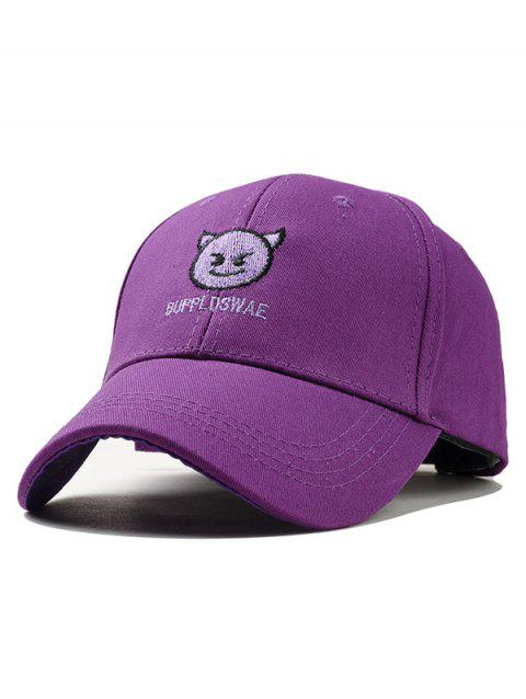 Naughty Devil Embroidery Adjustable Baseball Hat - PURPLE