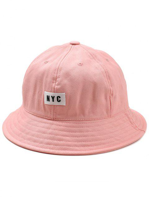 NYC Label Solid Color Bucket Hat - LIGHT PINK