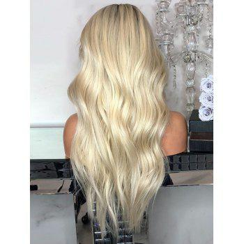 Long Center Parting Wavy Ombre Synthetic Wig - multicolor