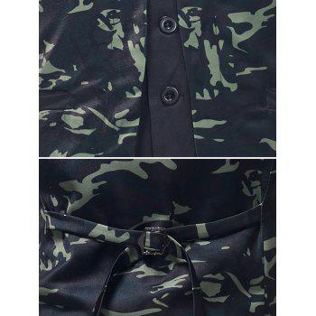 Camouflage Print Fake Two Pieces Waistcoat - multicolor S