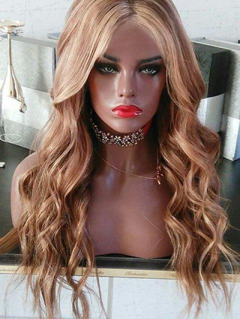 Center Parting Long Wavy Colormix Synthetic Wig - multicolor
