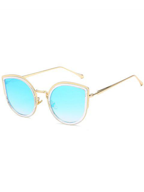 Alloy Frame Catty Sun Shades Sunglasses - LIGHT SKY BLUE
