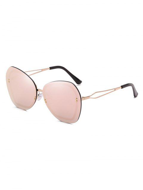 Oversized Rivets Rimless Elegant Sunglasses - PIG PINK